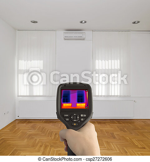 Thermal Image of Room - csp27272606