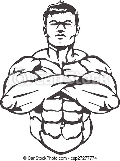 Vectors Illustration of Muscle Man - This is a great logo/image ...