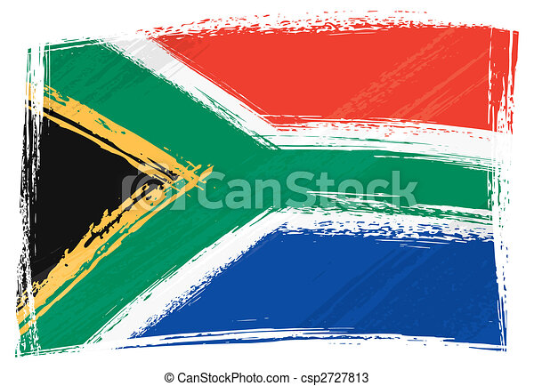 Grunge South Africa flag - csp2727813