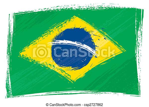 Grunge Brazil flag - csp2727862