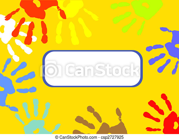 colorful hand prints - csp2727925
