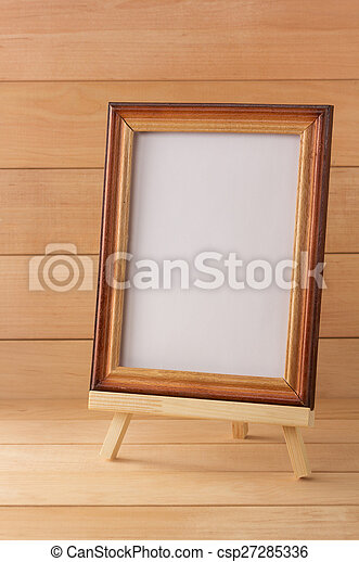 picture frame on wood