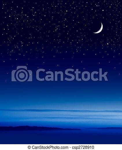 Moon over Ocean - csp2728910