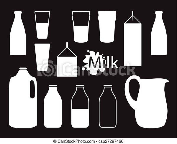 milk bottle silhouette - csp27297466