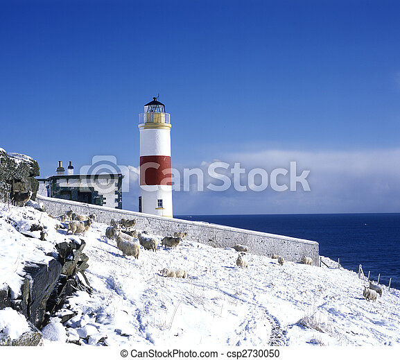 lighthouse, Mid Clyth, Highlands, Scotland - csp2730050
