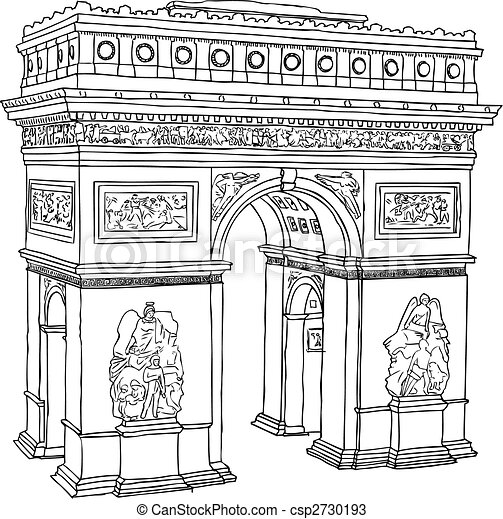 Louvre Coloring Page