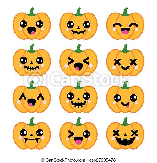 vectors illustration of halloween kawaii cute pumpkin scary pumpkin clip art free scary pumpkin clip art coordinate