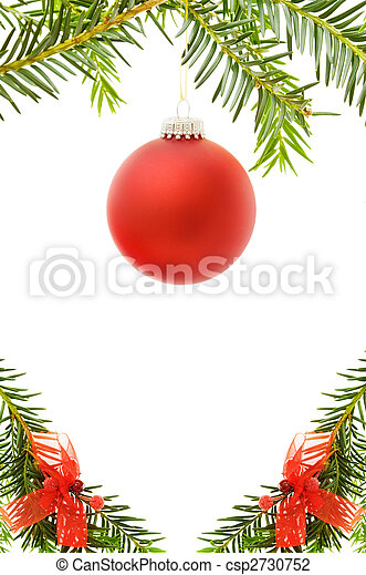 Christmas festive border with bauble - csp2730752