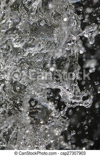 fountain gushing - csp27307903