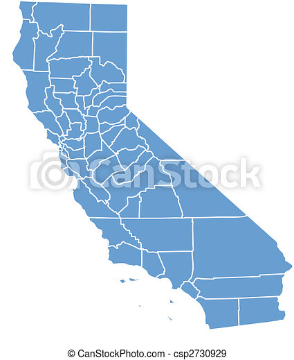 California map - csp2730929