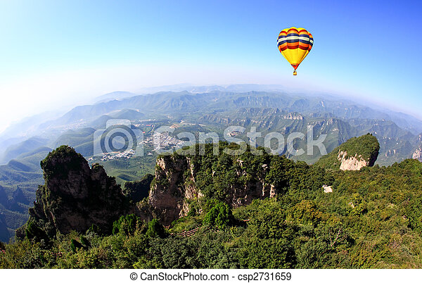 The scenery of Yun-Tai Mountain, a World Geologic Park - csp2731659