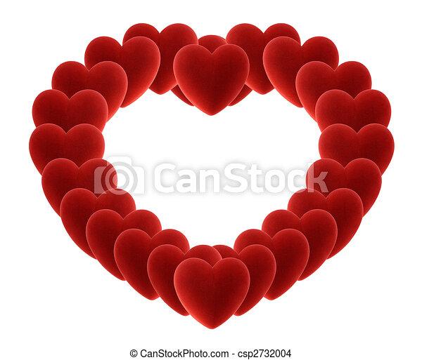big heart of many velvet hearts - csp2732004