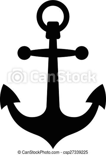 Simple black anchor silhouette - csp27339225
