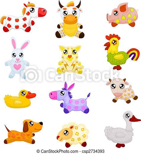 Domestic  toy animals - csp2734393