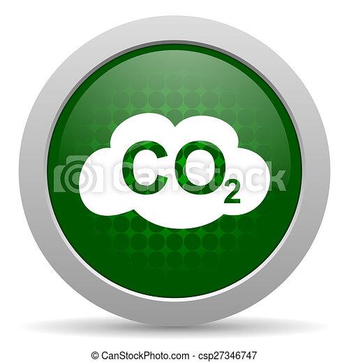 炭素, 二酸化物, アイコン, CO2 ...