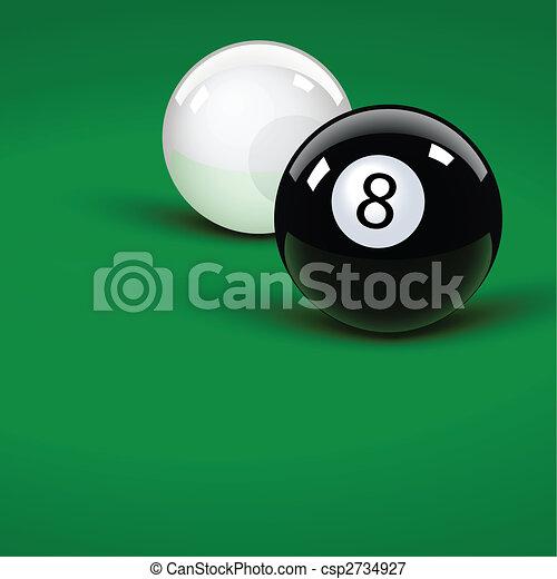 Pool balls - csp2734927