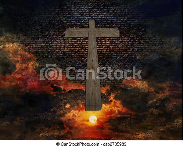 Cross in Sky - csp2735983