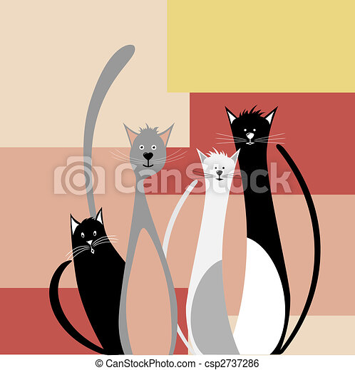 Four funny cats - csp2737286