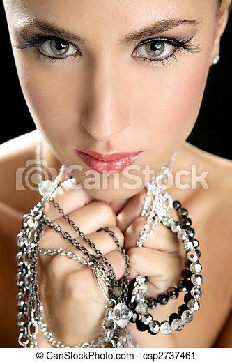 Attractive fashion elegant woman jewelry - csp2737461