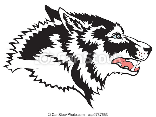Abstract vector illustration of wolf face csp2737653 - Search Clip Art ...