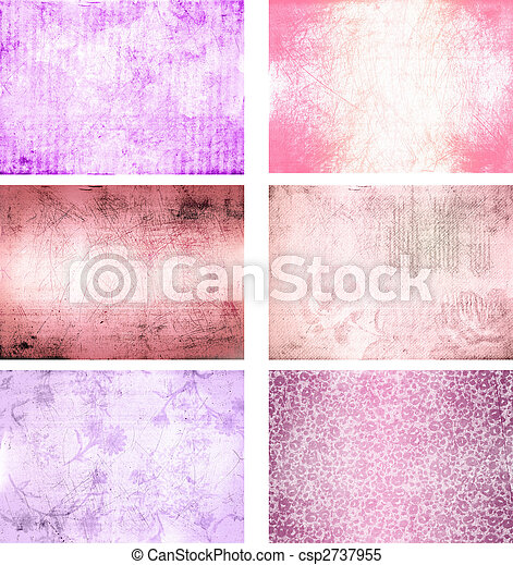 collection of grunge background textures - csp2737955
