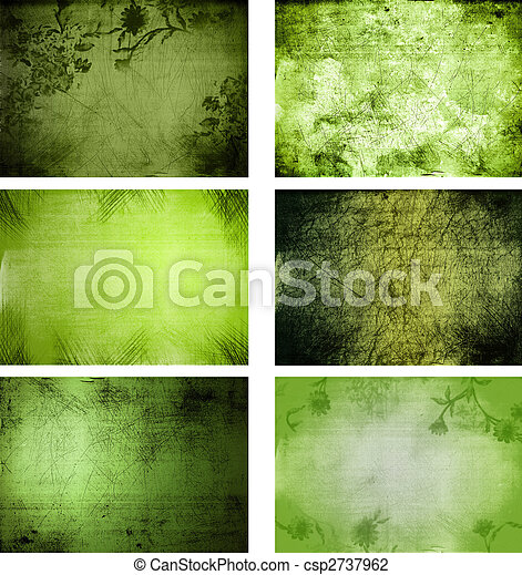 collection of grunge background textures - csp2737962