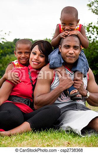 Standard family portrait - csp2738368