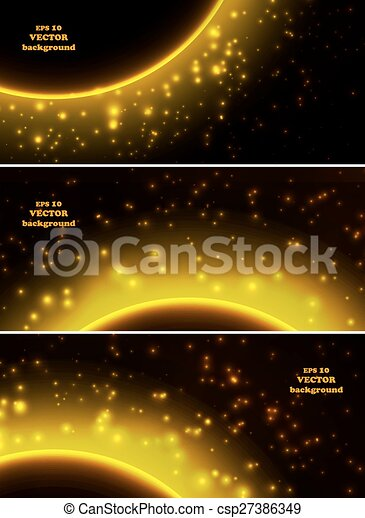 Space planet in the rays of light - csp27386349
