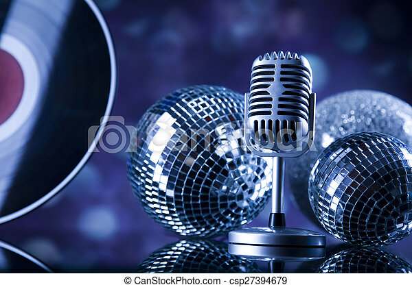Music microphone, music saturated concept