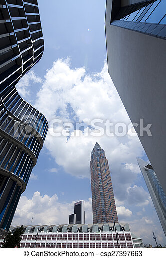Modern business building, natural colorful tone