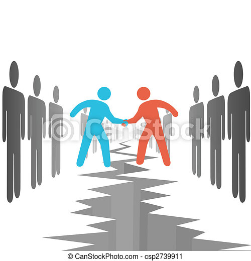 People on sides settle agreement deal - csp2739911