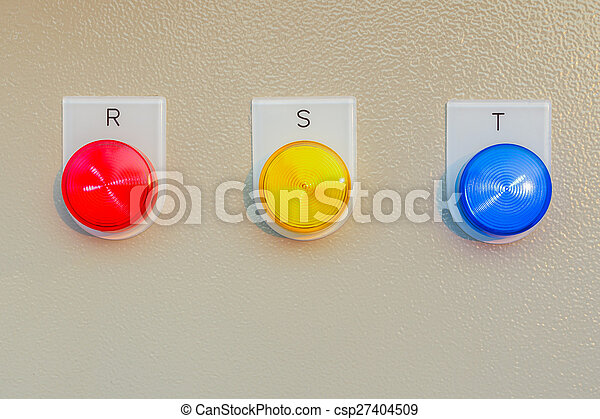 Control panel switch button for main engine room, can use to monitor control electricity in building