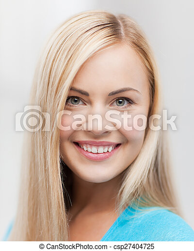close up of woman