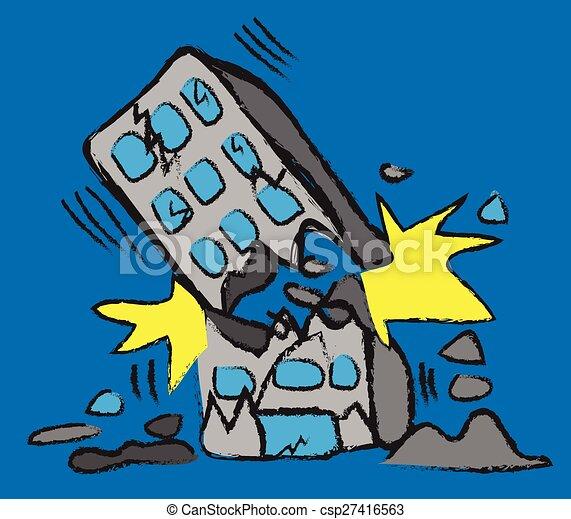 Clip Art Vector of earthquake vector csp5909986 - Search Clipart ...