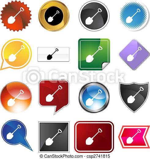 Shovel Icon Set - csp2741815