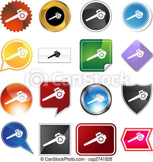 Lawn Blower Icon Set - csp2741828