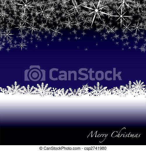 christmas snow drift - csp2741980