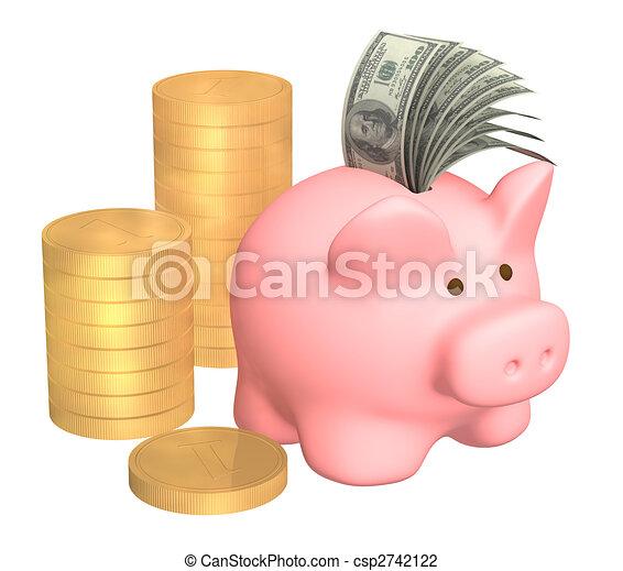 Piggy bank - csp2742122