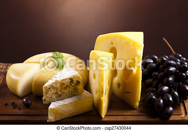 Background of fresh cheese, saturated ambient rural theme