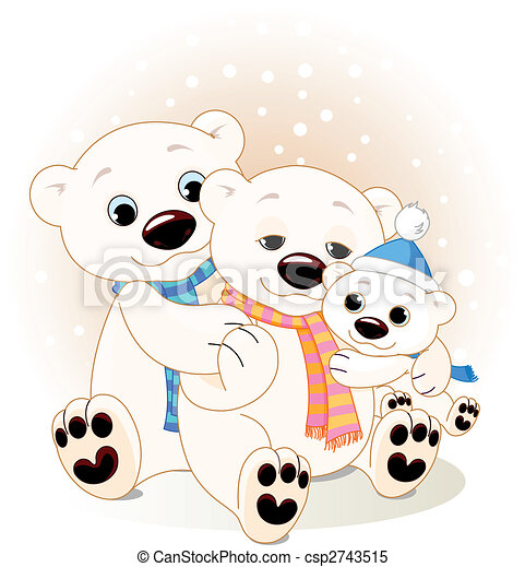 Polar bear family - csp2743515