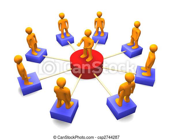 Social Network 3D - csp2744287