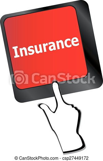 Insurance key in place of enter key vector - csp27449172