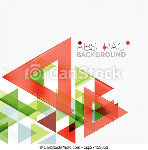 Abstract geometric background. Modern overlapping triangles - csp27453853