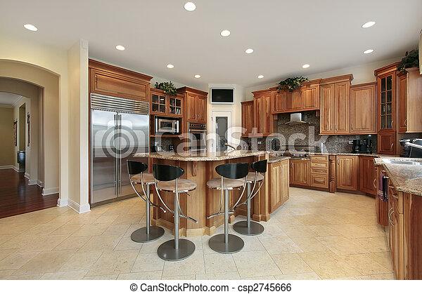 Banco de imagens de cozinha, barzinhos, Tamboretes - cozinha, luxo, lar,... csp2745666 ...