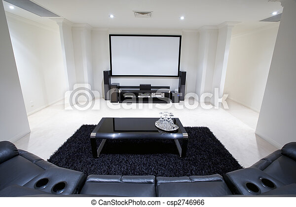 Home Theatre Room - csp2746966