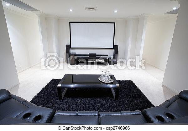 Home Theatre Room - csp2746966