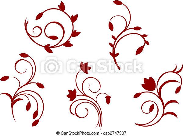 Ilustraciones vectoriales de floral sencillez - Dibujos de decoracion ...