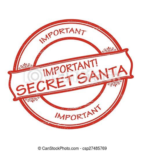 Clip Art Vector of Secret Santa - Rubber stamps with text secret Santa ...