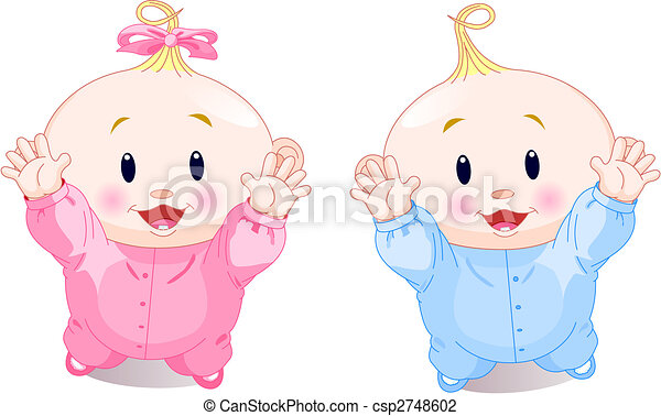 Lovely twins - csp2748602