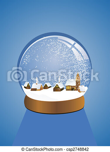 beautiful snow dome - csp2748842